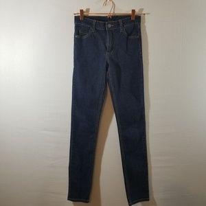 Cheap Monday Hi Rise Skinny Dark Wash Denim Jeans